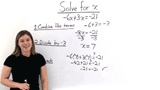 How Do You Solve a Two-Step Equation by Combining Like Terms?