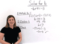 How Do You Solve a Two-Step Equation by Multiplying by -1 First?