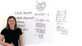 How Do You Simplify a Polynomial Over a Polynomial Using Opposite Binomial Factors?