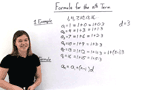 Where Does the Formula for a Term in an Arithmetic Sequence Come From?