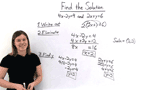 What's Another Way of Solving a System of Equations Using the Elimination by Multiplication Method?