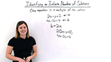 How Can You Tell When a System of Equations Has Infinitely Many Solutions?