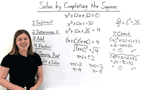 How Do You Solve a Quadratic Equation by Completing the Square?