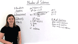How Do You Use The Discriminant to Determine the Number of Solutions of a Quadratic Equation?