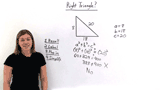 How Do You Determine if a Triangle Is a Right Triangle if You Know its Sides?