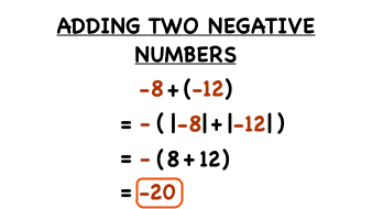 how do you add two negative numbers virtual nerd