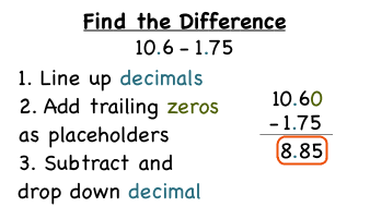 How Do You Subtract Decimals?   Virtual Nerd