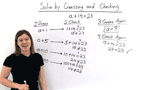 How Do You Solve an Equation by Guessing and Checking?