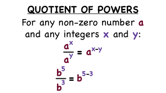 What's the Quotient of Powers Rule?   Virtual Nerd