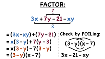 How Do You Factor a 4-Term Polynomial by Grouping? | Virtual Nerd
