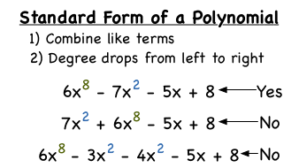 what s the standard form of a polynomial virtual nerd