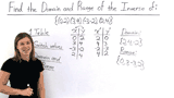 How Do You Find the Domain and Range of the Inverse of a Relation?