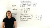 What is a Coefficient Matrix?