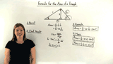 What is the Formula for the Area of a Triangle Using Sines?