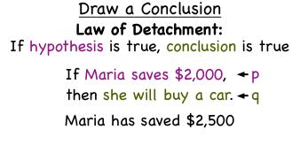 Law of detatchment