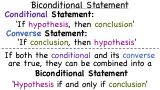 What is a Biconditional Statement?