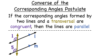 What Is The Converse Of The Corresponding Angles Postulate? | Virtual Nerd