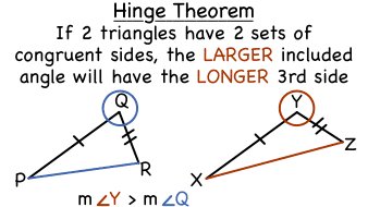 What is the Hinge Theorem? | Virtual Nerd