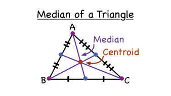 what is a median of a triangle virtual nerd