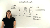 What are the Customary Units of Length?