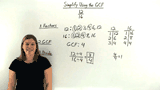How Do You Write a Fraction in Simplest Form Using the GCF?