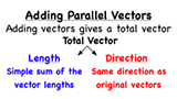 How do you add two parallel vectors?