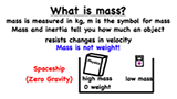 What is mass and why is it different from weight?