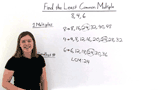 How Do You Find the Least Common Multiple by Listing Common Multiples?