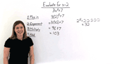 How Do You Evaluate an Expression with Exponents?