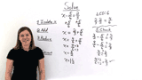 How Do You Solve an Equation With Fractions With Different Denominators Using Addition?