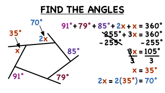 how do you find measures of missing exterior angles virtual nerd