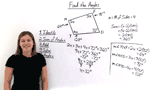 How Do You Find Missing Angles in a Quadrilateral With Variables?