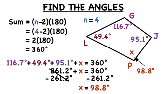 How Do You Find A Missing Angle In Quadrilateral