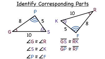 How Do You Identify Corresponding Parts In Congruent Triangles Virtual Nerd