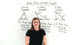 What are Acute, Obtuse, and Right Triangles?