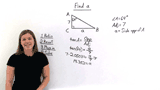 How Do You Find a Missing Side of a Right Triangle Using Tangent?