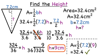 How Do You Find The Height Of A Triangle If You Know The Area And
