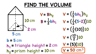 How do you find the volume of a triangular prism virtual nerd ccuart Choice Image