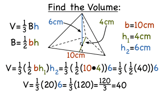 How do you find the volume of a triangular pyramid virtual how do you find the volume of a triangular pyramid virtual nerd can help ccuart Choice Image