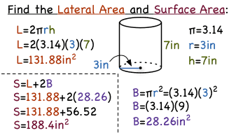 How Do You Find the Lateral and Surface Areas of a Cylinder