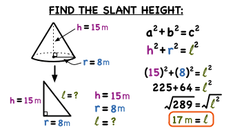 How Do You Find The Slant Height Of A Cone Virtual Nerd