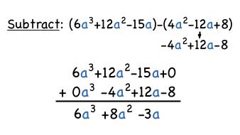 How Do You Subtract Polynomials Vertically? | Virtual Nerd
