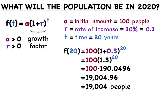 solving exponential word problems