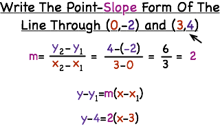 point slope form of 2 points  How Do You Write an Equation of a Line in Point-Slope Form ...