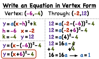 vertex form with vertex and point How Do You Write a Quadratic Equation in Vertex Form if You Have