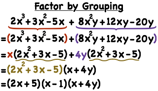 How Do You Factor a 6-Term Polynomial by Grouping? | Printable ...