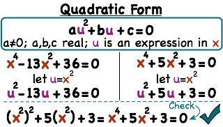 What is Quadratic Form of a Polynomial Equation? | Printable ...