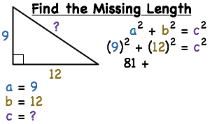 How do you find the length of the hypotenuse of a right triangle find the missing length of the given triangle ccuart Gallery